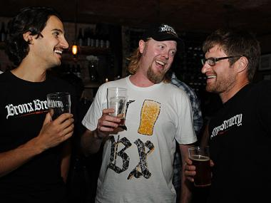 The Bronx Brewery released their new Rye Pale Ale at The Randolph on Broome Street, Aug. 23, 2012.