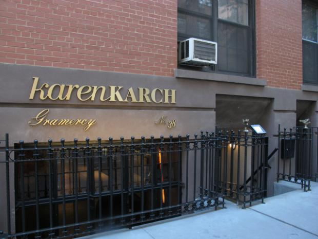Karen Karch, a jewelry designer, has moved into a controversial storefront, which neighborhood residents around Gramercy Park have fought to protect from prospective bar tenants.