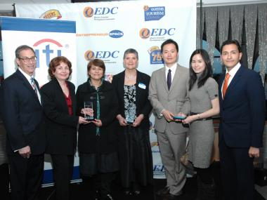 Winners of the 2011 Food-Based Business category, Kenneth Chen and Ann Yu, owners of  Itizy Gourmet Ice Cream Truck