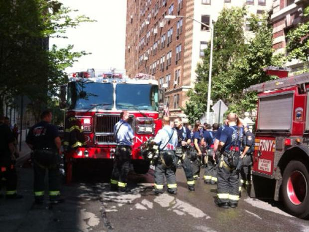 A fire broke out Tuesday at a West 95th Street apartment building that houses low-income and homeless tenants.