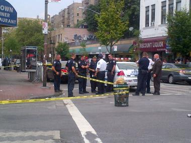 A Bronx newspaper seller shot during a turf war died Saturday.