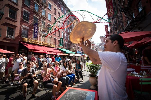 Tourists to the Little Italy had a nice treat of pizza and cigar shows on Saturday.