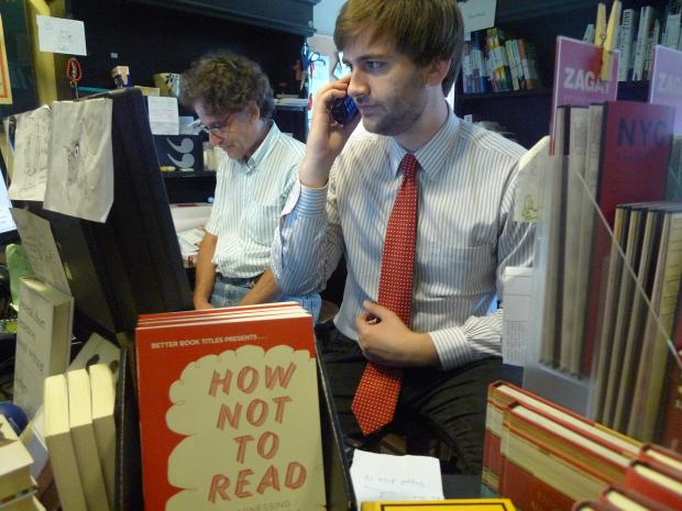 "Community Bookstore is selling the book ""How Not to Read"" by one of its employees, comic Dan Wilbur."
