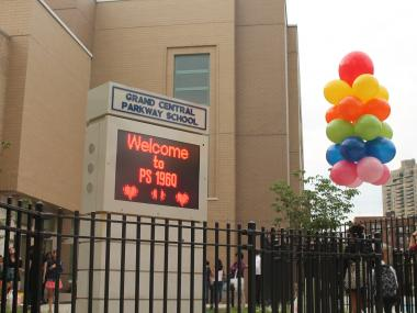 Parents dropped their children off at school at P.S. 196 Grand Central Parkway School in Forest Hills.