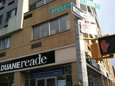The Duane Reade on Myrtle and Nostrand avenues in Brooklyn where a woman allegedly overdosed.