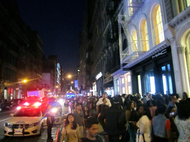 Crowds of young people flooded SoHo for Fashion's Night Out Sept. 6, 2012.