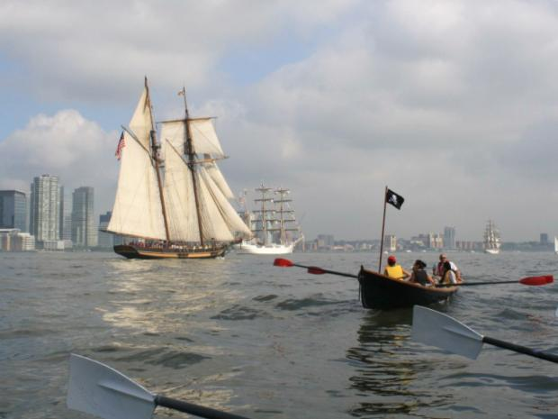 A crew race will set sail from Pier 40 in the West Village Sept. 8, 2012 to raise money for groups that coordinate youth soccer programs in Haiti and Kenya.