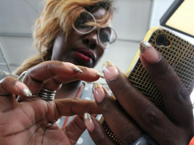 Those attending Fashion Week showcased their personal style with intricate nail art.