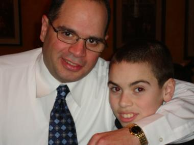 Former NYPD Capt. Dennis Morales with his son, Dennis Jr.