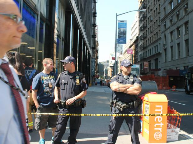 A suspicious package was being investigated at 250 Broadway, which houses City Council members' offices.