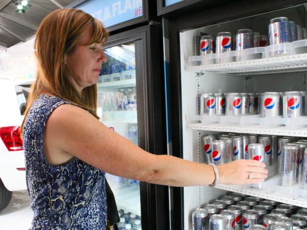 "At the end of Fashion Week the Diet Pepsi ""Skinny Can"" is replaced by its less-stylish cousin."