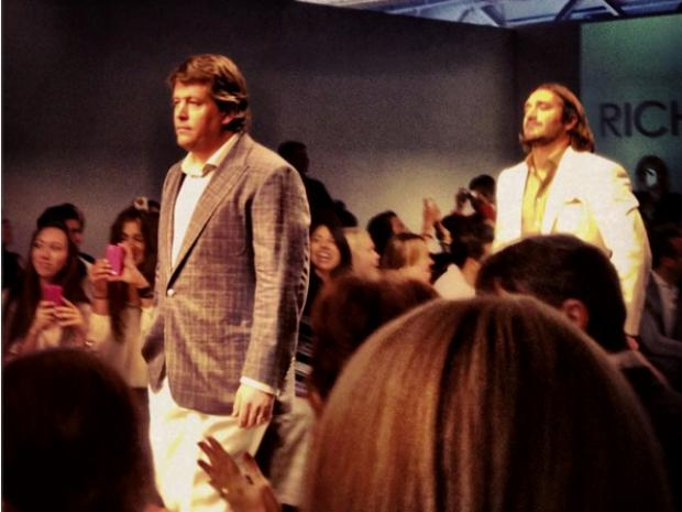 Regular men rocked designer suits on the runway during Fashion Week.
