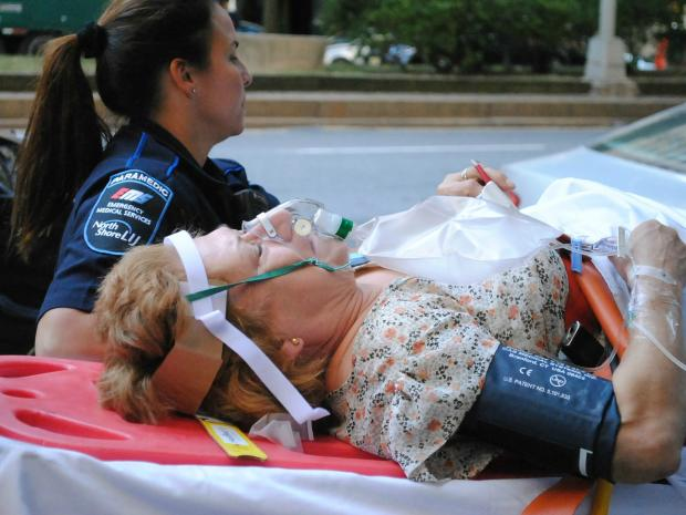 A woman fell and broke her leg inside liquor magnate Edgar Bronfman Jr.'s Park Ave. penthouse, Sept. 17, 2012.