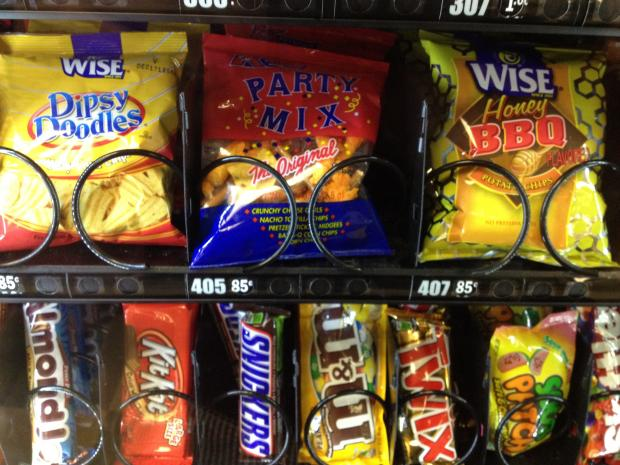 The vending machines at Brooklyn Hospital Center are filled with junk food, soda, ice cream and candy.