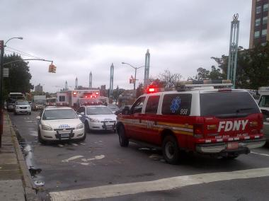 The FDNY and NYPD rushed to an office near Fordham University Tuesday after a suspicious substance was discovered.