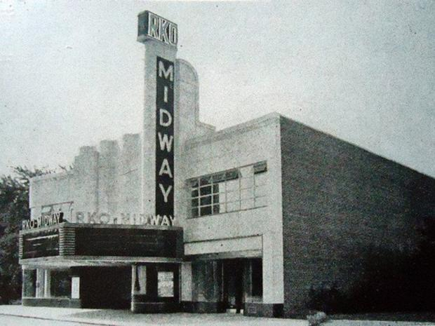 Historical photos of the Midway Theater