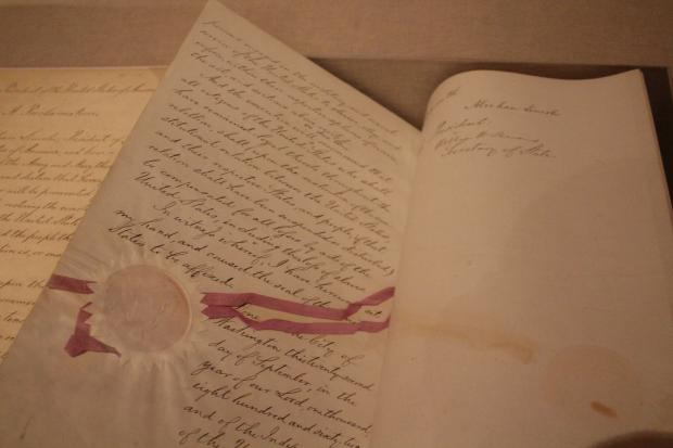 For the first time in 150 years, a preliminary copy of the Emancipation Proclimation— the only remaining version handwritten by Abraham Lincoln— was on display with the official preliminary copy of the Emancipation Proclimation, the document that gave the president's historic decrees the force of law, at the Schomburg Center for Research in Black Culture.