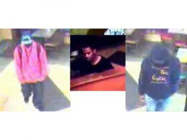 Three men are being sought for allegedly attempting to rob a Subway restaurant on Boston Road in Baychester on Sept. 19, 2012.