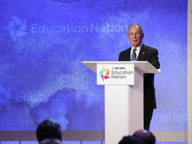 Mayor Bloomberg speaks at NBC's Education Nation Sept. 24, 2012.