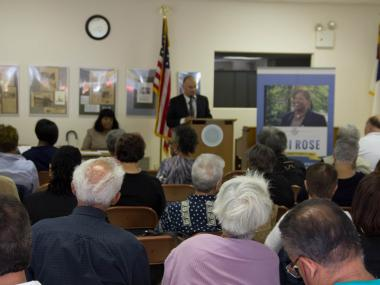 A townhall meeting hosted by City Councilwoman Debi Rose in St. George.