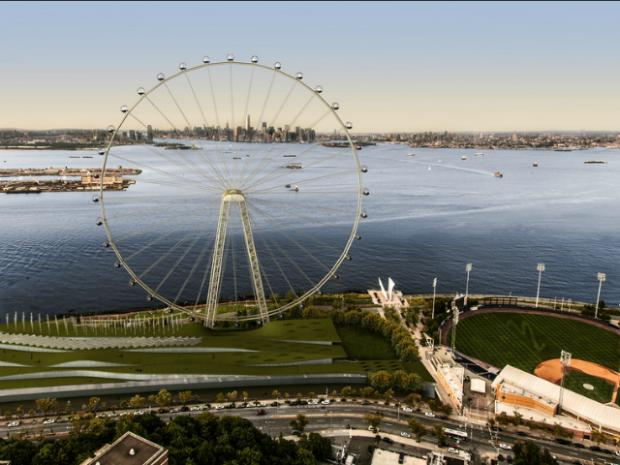 Developers for the New York Wheel and the Empire Outlets spoke at the Community Board 1 Land Use Committee meeting about their projects. The board voted in favor of their application.
