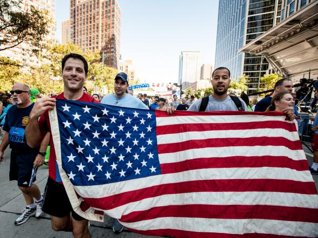Tens of thousands of runners honored 9/11 first responders on Sept. 30, 2012.
