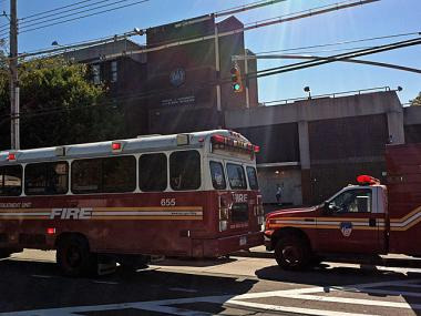 The FDNY responded to a South Ozone Park school after an 11-year-old girl released pepper spray in the school's cafeteria, Oct. 16, 2012.