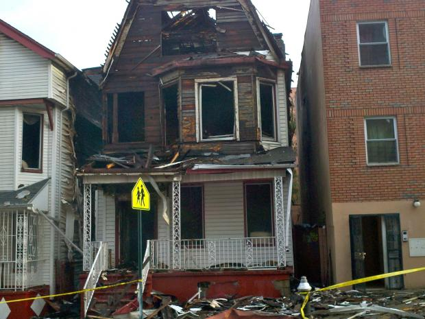 Seven firefighters were injured in a fire in the Bronx on Oct. 15, 2012.