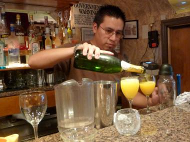 Restaurants can start serving booze starting at 10 a.m. this Sunday after Gov. Andrew Cuomo signed legislation changing the state's liquor laws.