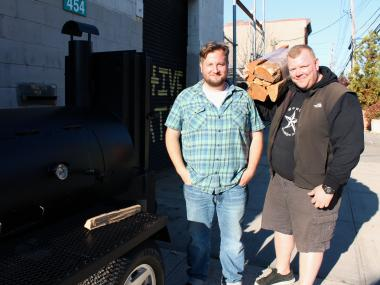 Chris Miller and Billy Durney plan to open Hometown barbecue restaurant on Van Brunt Street in Red Hook this spring.