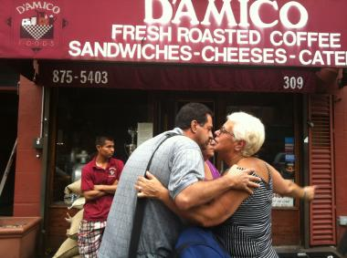 D'Amico Foods was evacuated Wednesday when a fire started in the shop's coffee roaster.