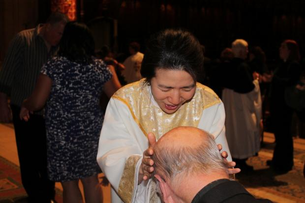 Harlem resident Christine Lee, 40, became what church officials believe is the first Korean-American woman ordained as a priest in the  Episcopal Church  with her recent ordination.