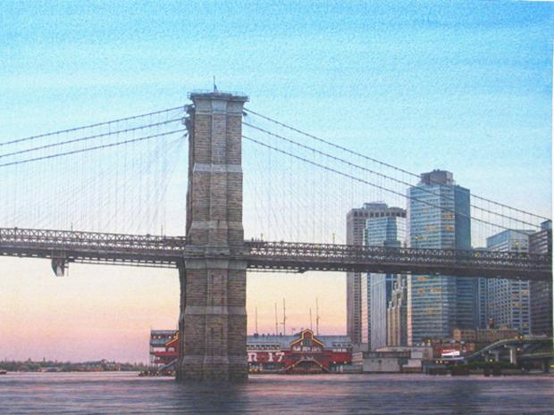 The South Street Seaport Museum's new exhibit   Romancing New York: Watercolors by Frederick Brosen   will feature 11 sizeable paintings depicting well-known city scenes through Jan. 6, 2013.