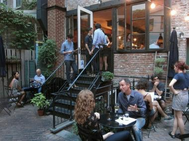 The eatery accessible through an unmarked door on Morton Street in the West Village was hit with a liquor license denial from Community Board 2 Oct. 18, 2012.