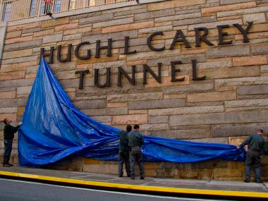 The Brooklyn-Battery Tunnel was renamed after the late Gov. Hugh Carey, the former governor of New York.