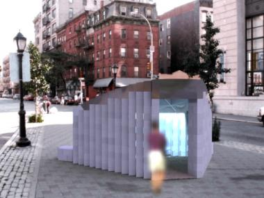 Three people will be able to fit within a public art piece that will be on display in Petrosino Square Oct. 25 through Nov. 25.