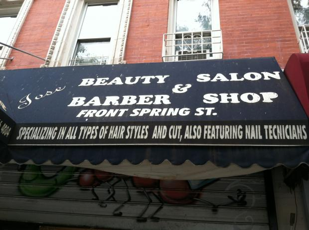 The outside of Jose Beauty Salon and Barber Shop, where a dispute on October 6 left a Nolita man dead.