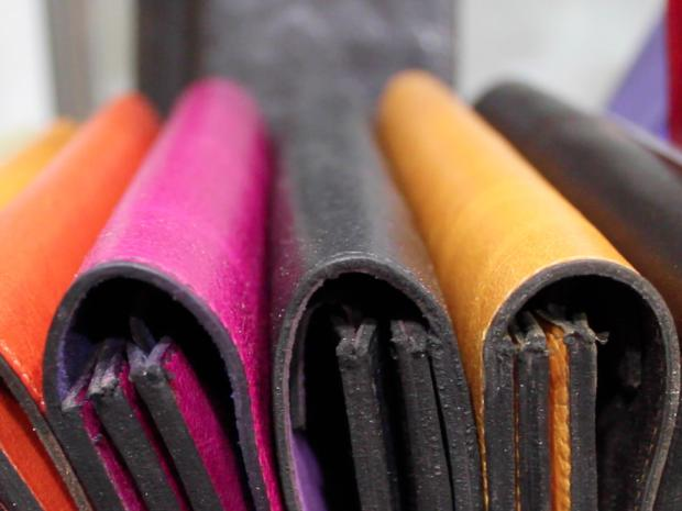Jutta Neumann has been making leather accessories for 18 years.