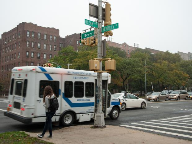 The 22-year-old victim was hit by the vehicle at Ocean Parkway and Beverley Road.