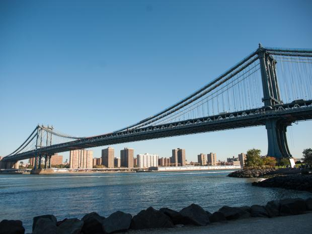 A view of the Manhattan Bridge.
