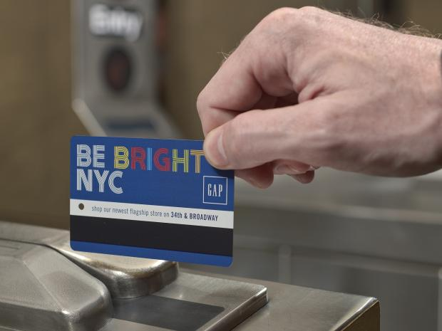 The advertisements that used to appear only on the backs of MetroCards now will take up the fronts, too.