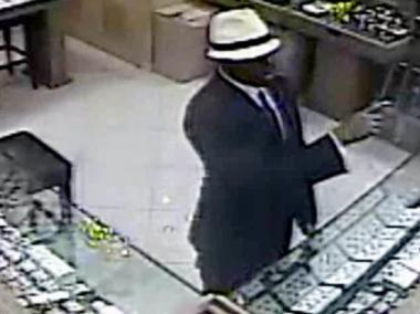 One of the suspects of a two-man jewelry heist in Midtown Friday Sept. 28, 2012.