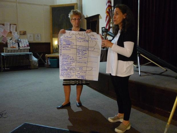 Park Slope residents gathered on Oct. 3, 2012 to brainstorm ideas on how to spend $1 million in government funding.