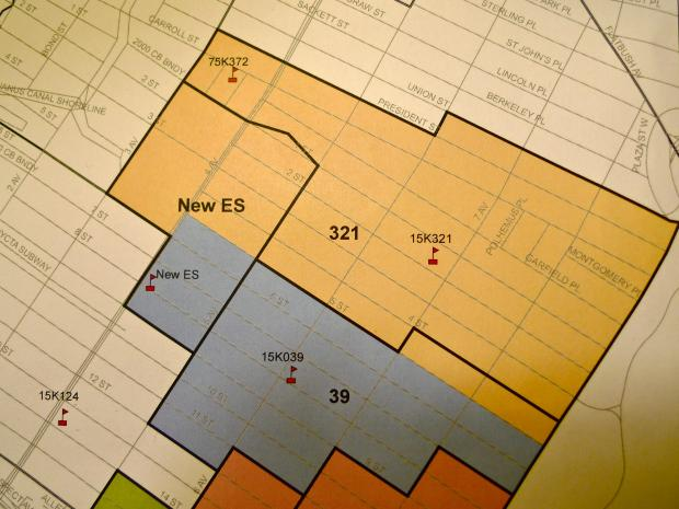 The Department of Education unveiled proposals to change the zones for Park Slope's P.S 321, P.S. 107, P.S. 39 and P.S. 10 at a public meeting of the District 15 Community Education Council.