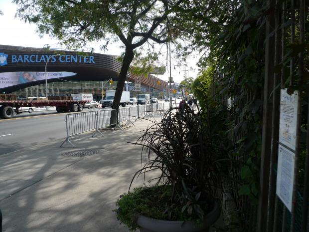 Neighbors say patrons at the newly opened Barclays Center are using local sidewalks as urinals, even peeing on a community garden across from the new arena.