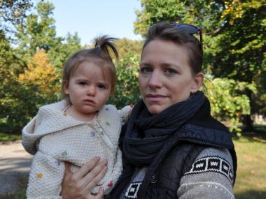 Rachel Massey and her 14-month-old were held up at the park in broad daylight.