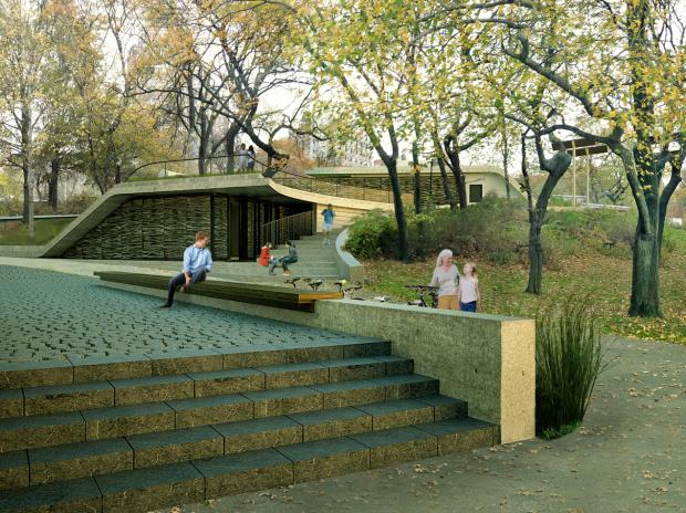 A carbon-neutral toilet system that feeds a wildflower meadow is in the works in Riverside Park.