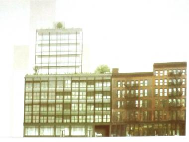 Selldorf Architects presented plans at an Oct. 15, 2012 Community Board 2 meeting for a nine-story glass and aluminum building at 42 Crosby St., which is now a parking lot.