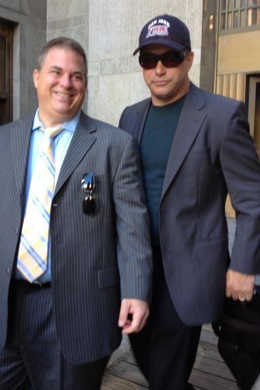 Stephen Baldwin, 46, leaves Manhattan Criminal Court October 1, 2012.