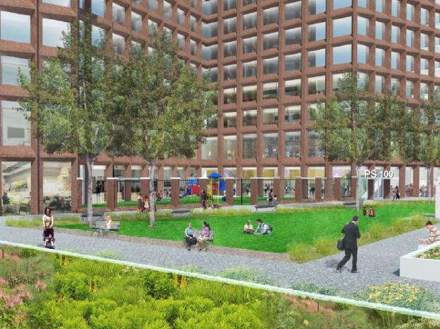 Trinity Real Estate said in October 2012 that they're looking at five potential sites for additional open space in Hudson Square. They own one of these spaces.